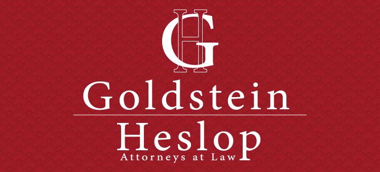Goldstein & Heslop, Attorney's at Law logo design
