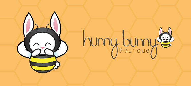Hunny Bunny Boutique logo design