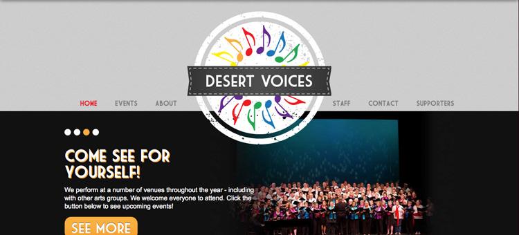 Desert Voices website screenshot