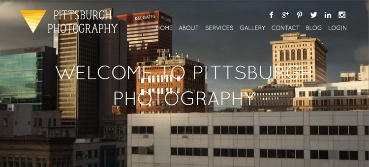 Pittsburgh Photography website screenshot