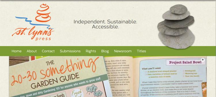 St. Lynn's Press website screenshot