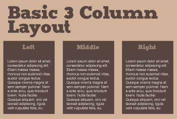 how to make columns in css