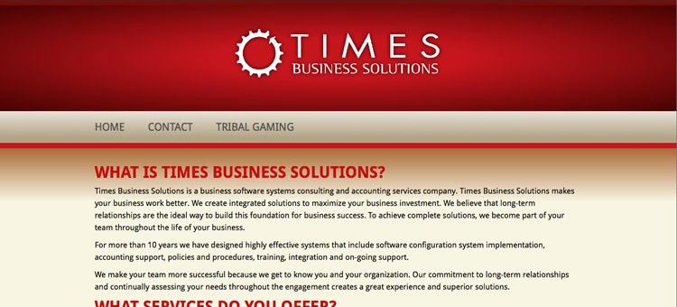 Times Business Solutions website screenshot