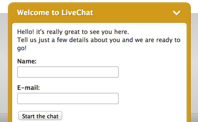 LiveChat to the rescue!