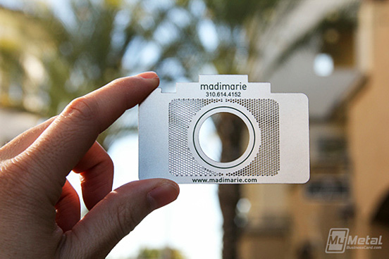 21 eye catching business cards for inspiration professional metal photographer cards l colourmoves Images