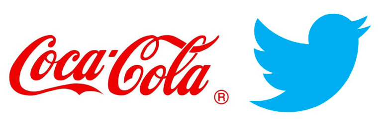 Logo Samples for Coca-Cola and Twitter