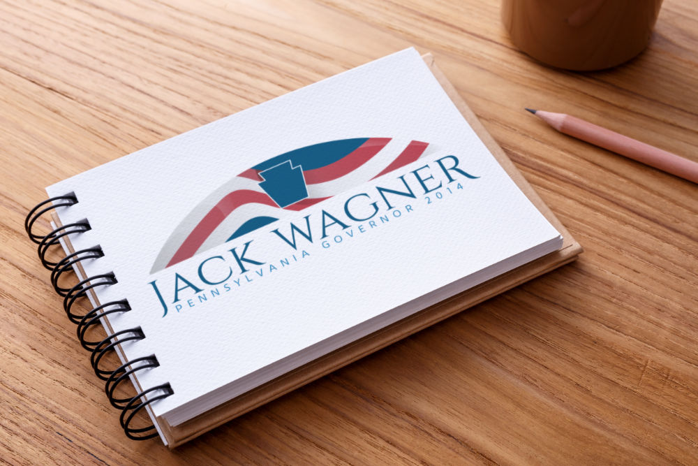 Logo concept for Jack Wagner's 2014 PA Governor campaign
