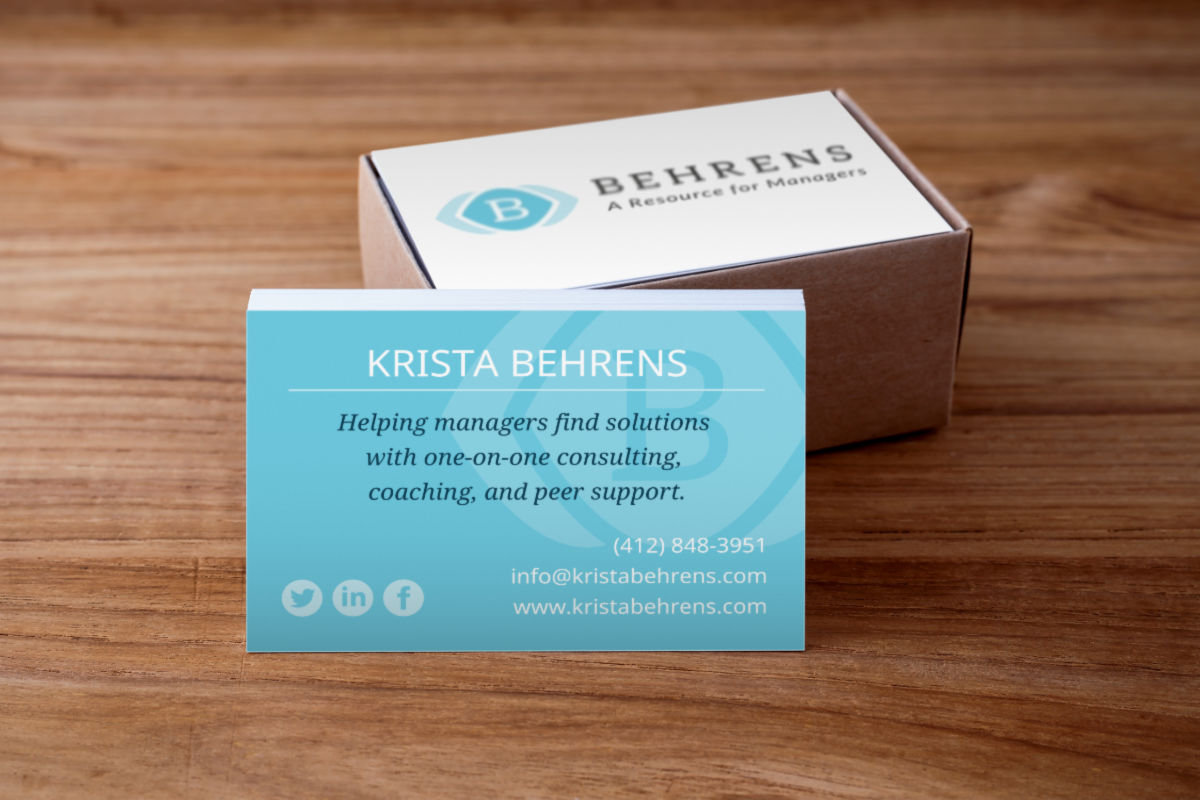 Krista Behrens business card mockup
