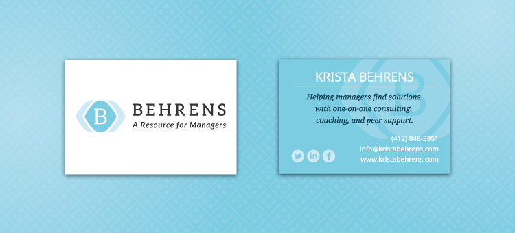 Krista Behrens business card design