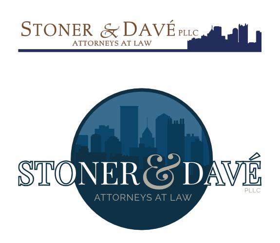 Stoner & Davé, PLLC Attorneys at Law Logo Comparison
