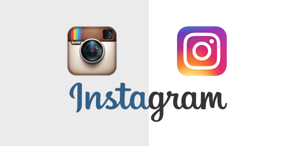 Instagram old logo vs. the new May 2016 logo