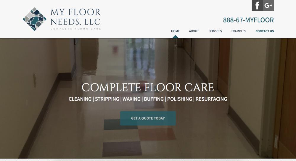 My Floor Needs, LLC website home page