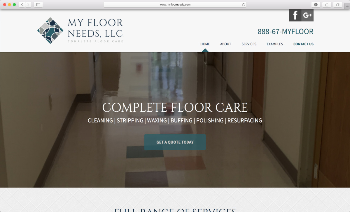 Previe of the new My Floor Needs website