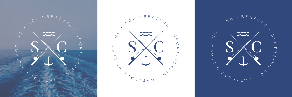 Sea Creature logo variations