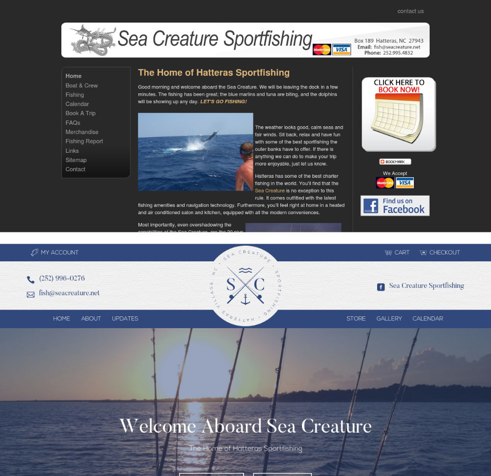 Old vs. New Sea Creature websites